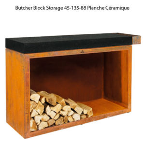 Butcher Block Storage Black 45-135-88 Planche Céramique