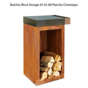 Butcher Block Storage 45-45-88 Planche Céramique