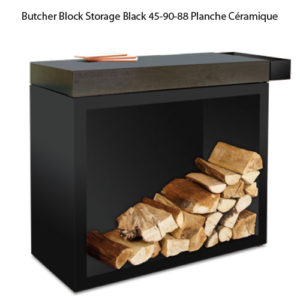 Butcher Block Storage Black 45-90-88 Planche Céramique