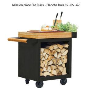 Mise en place Pro Black - Planche bois 65 - 65 - 67