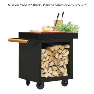 Mise en place Pro Black - Planche céramique 65 - 65 - 67