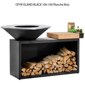 OFYR ISLAND BLACK 100-100 Planche bois