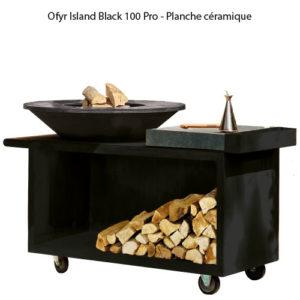 OFYR Island Black 100 Pro - Planche céramique