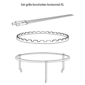 Set grille brochettes horizontal XL